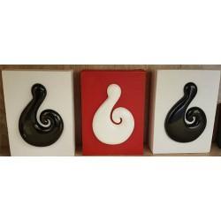 Maori Fish Hooks Art on Canvas