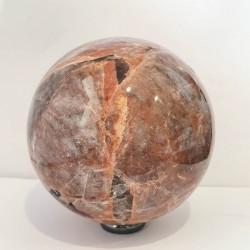 Peach Moonstone with Tourmaline Sphere