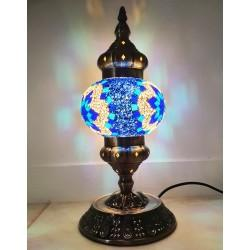 Coloured Glass Table Lamp - Hand Crafted