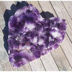 27.7 Kg amethyst crystal heart