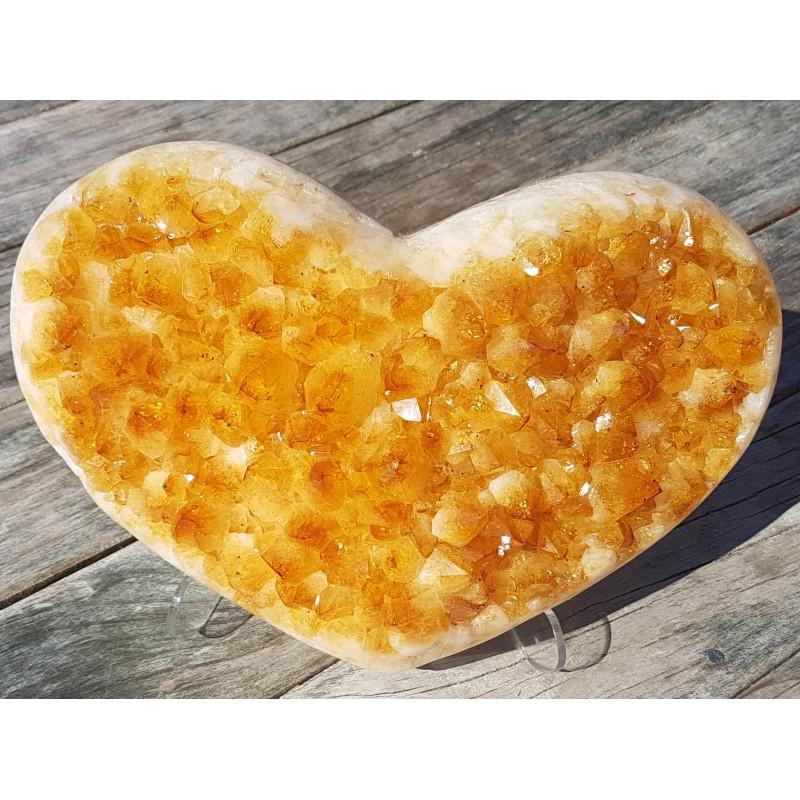Citrine Crystal Heart 4.3kg