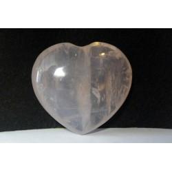 Clear Rose Quartz Heart