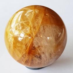 Golden Quartz Sphere - inari.co.nz
