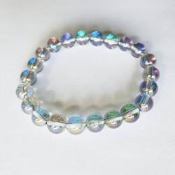 Blue Angel Aura Bracelet - 8 mm Beads - The Crystal Rainbow - inari.co.nz