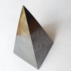XL Shungite 10 cm Tall Pyramid - The Crystal Rainbow - inari.co.nz