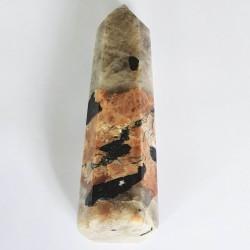 Peach Moonstone Obelisk - The Crystal Rainbow - inari.co.nz