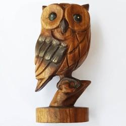 Owl 19cm - Hand Carved