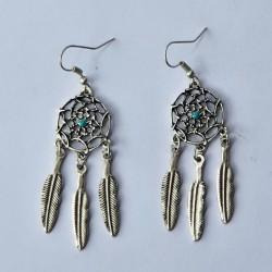 Earrings Dream Catcher - Silver Coloured