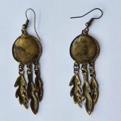Dream Catcher Earrings - Brass Coloured