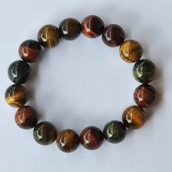 Mixed Tiger's Eye Bracelet - 12mm
