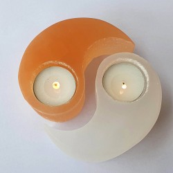 Selenite Yin Yang Candle Holder