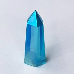 Aqua Aura Quartz Obelisk - Small