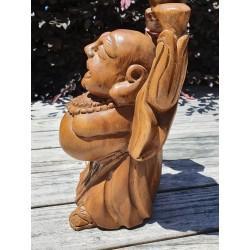Buddha of Abundance and Prosperity - Hand Carved Wood