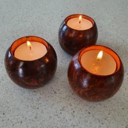 Wooden Tea Candle Holder Set